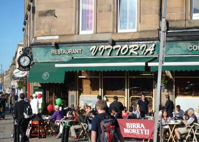The cafe scene on nearby Leith Walk, which is a few minutes' walk from the apartment