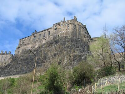 Edinburgh Castle from the Grassmarket