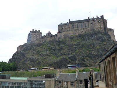 View of Edinburgh Castle from the walkway. Images of the inside of the apartment will follow shortly